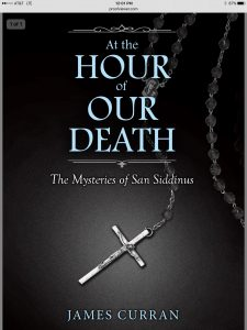 "The cover for ""At the Hour of Our Death,"" a noir murder mystery that will be available on iPad, Nook, Kindle and a bunch of other places I haven't heard of by the end of June."
